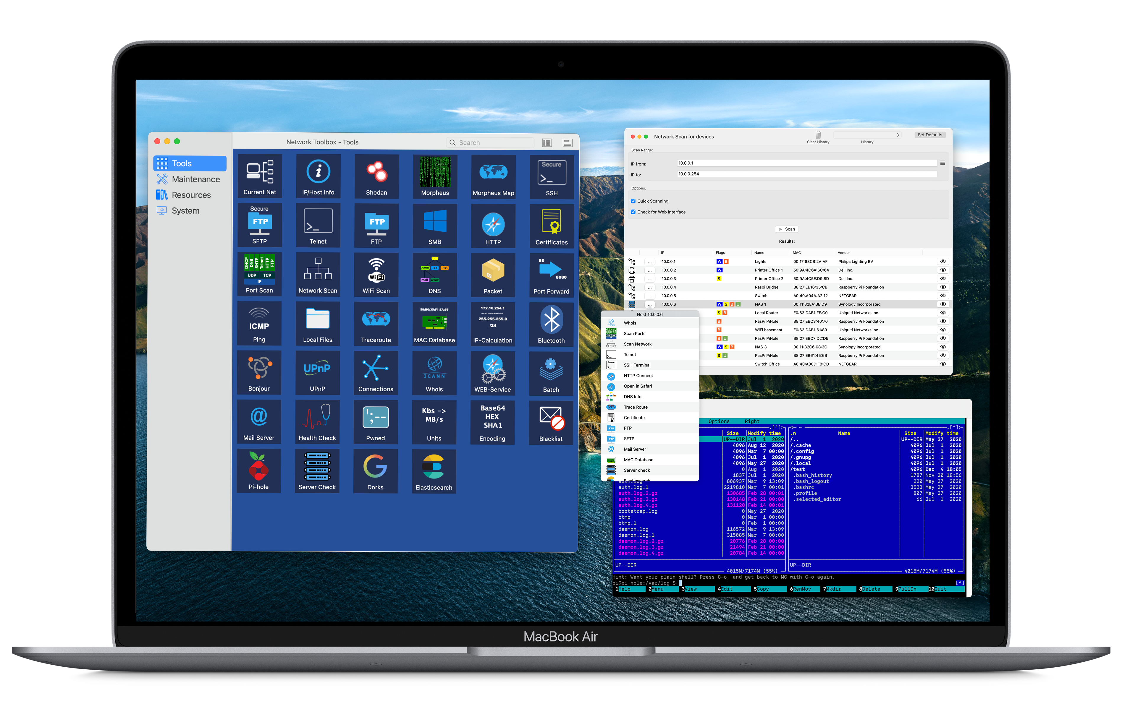 All-in-One Mac Networking Utility Offers Network Analysis & Maintenance Image